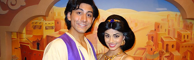Aladdin and Jasmine Epcot meet and greet KennythePirate