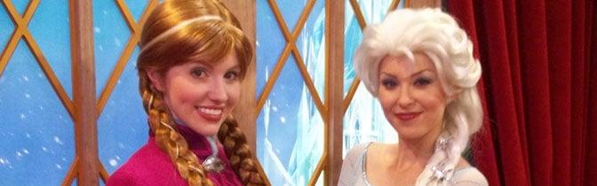Anna and Elsa Epcot meet and greet KennythePirate