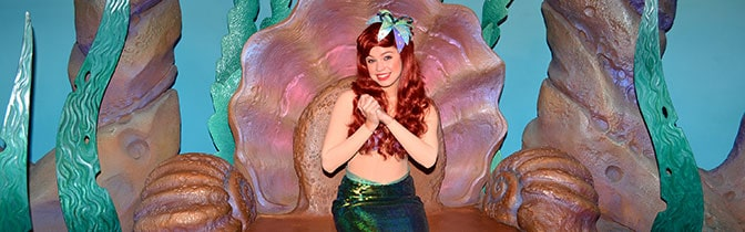 Ariel Magic Kingdom meet and greet KennythePirate
