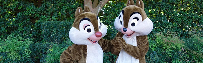 Chip n Dale meet and greet at Animal Kingdom
