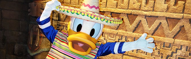 Donald Duck Epcot meet and greet KennythePirate