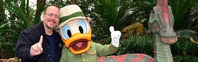 Donald Duck meet and greet at Animal Kingdom in Walt Disney World