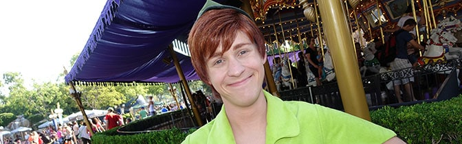Peter Pan Magic Kingdom meet and greet KennythePirate