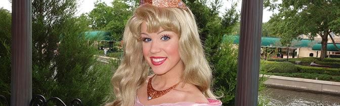 Princess Aurora Epcot meet and greet KennythePirate