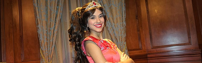Princess Elena of Avalor character meet and greet at Magic Kingdom in Walt Disney World