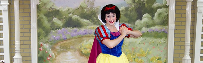 Snow White Magic Kingdom meet and greet
