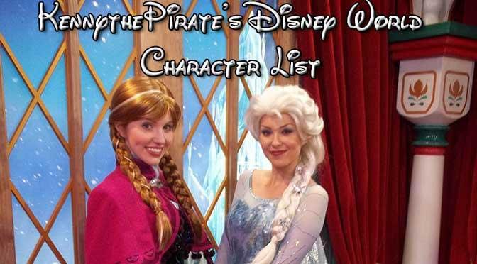 Disney World Character Locations