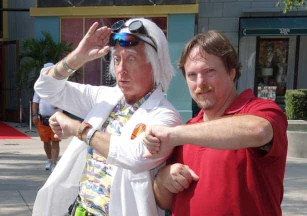 Doc Brown at Universal Studios 2012