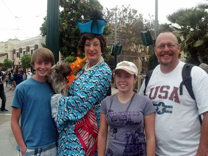Donna the Dog Lady at California Adventure 2012
