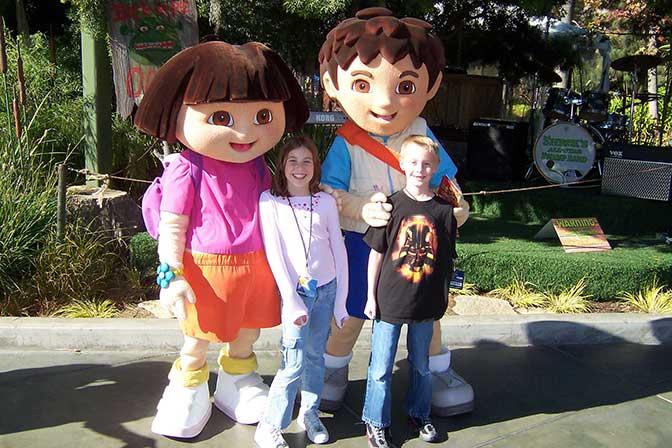 Dora and Diego Universal Studios Hollywood 2007