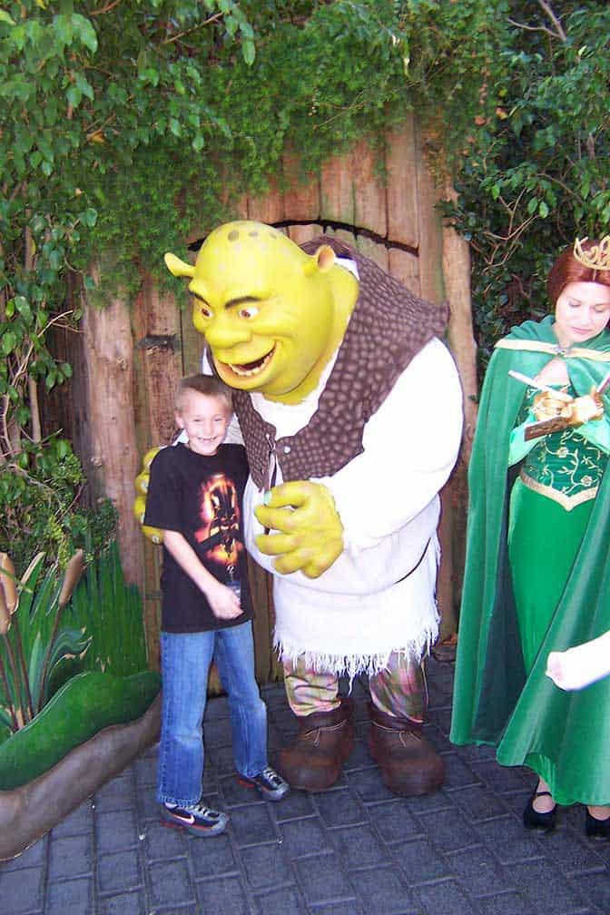 Shrek and Fiona Universal Studios Hollywood 2007