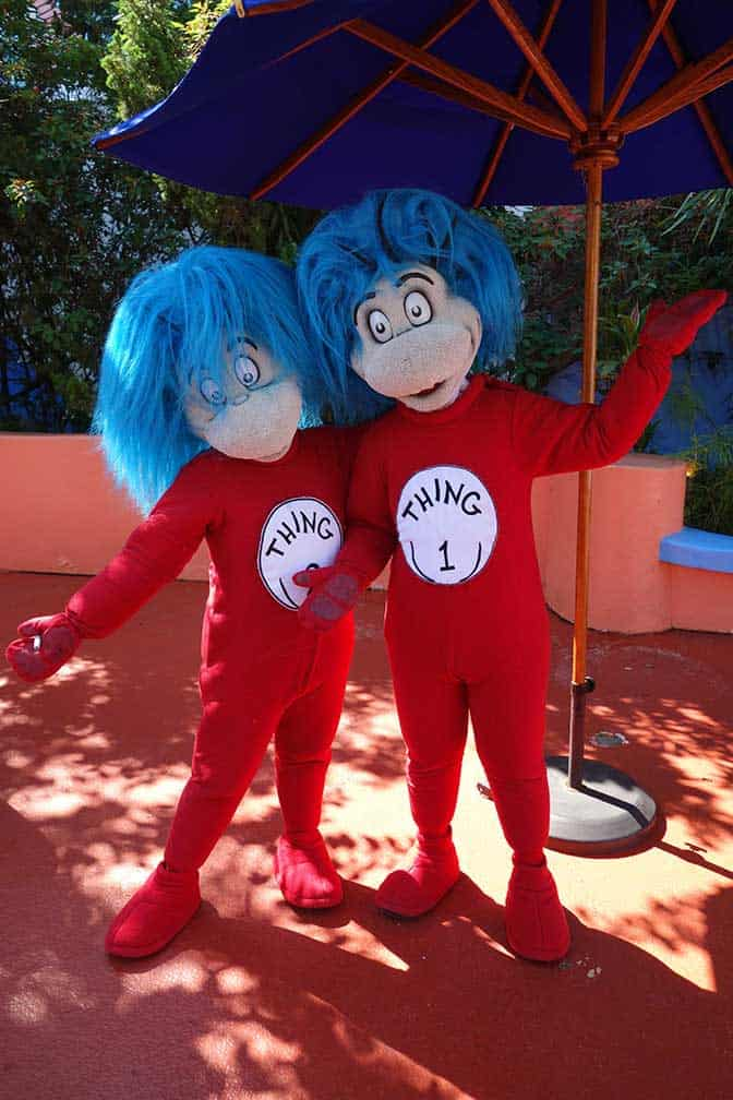 Thing 1 and Thing 2 at Universal Islands of Adventure 2012