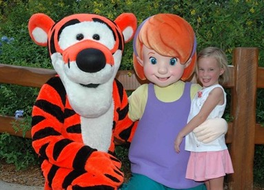 Disney World Characters, Tigger, Darby,