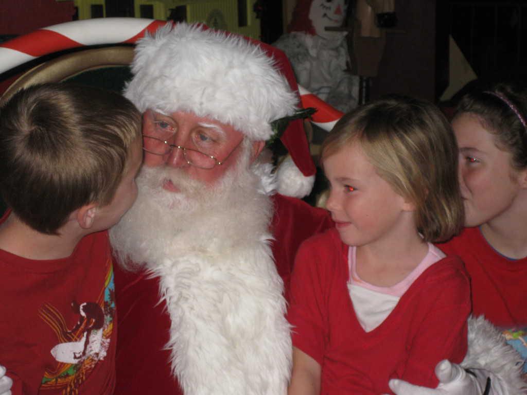 We met Santa in the Magic Kingdom December 2009