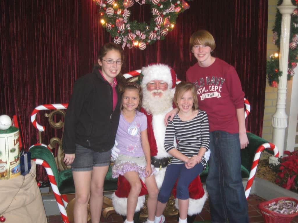 We met Santa in the Magic Kingdom December 2006