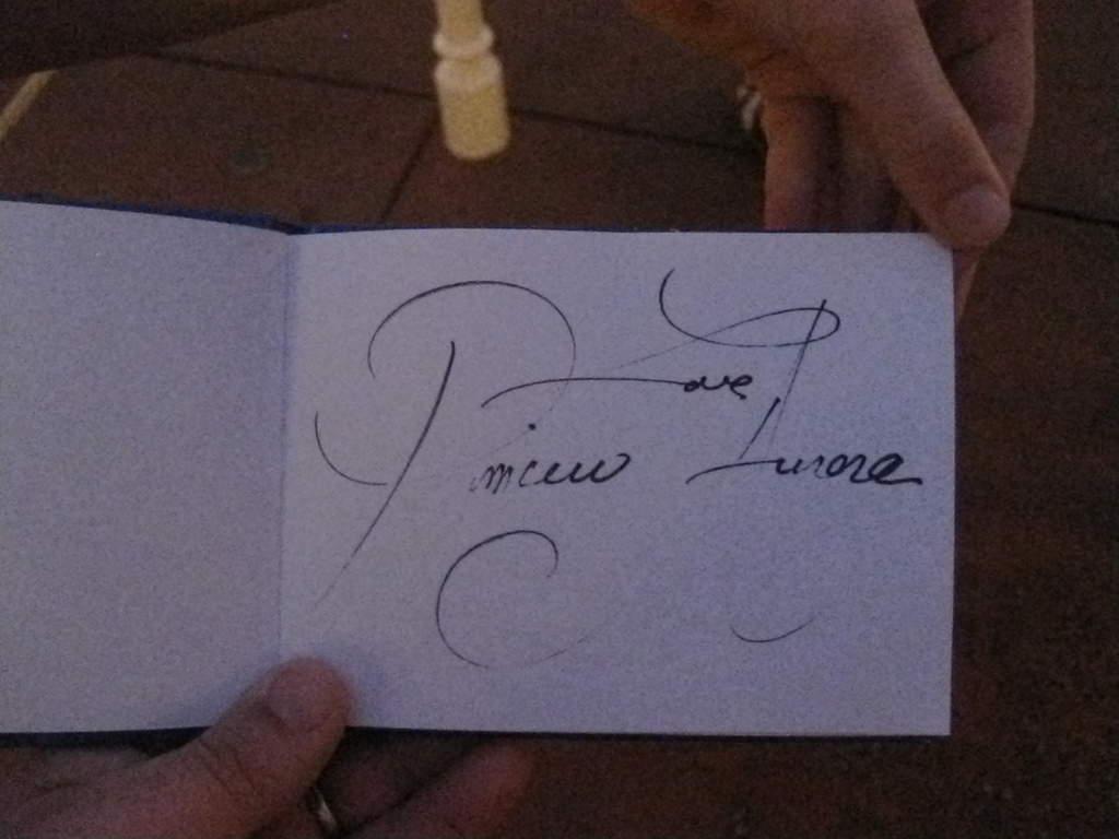 2 TST Princesss Auroras Autograph
