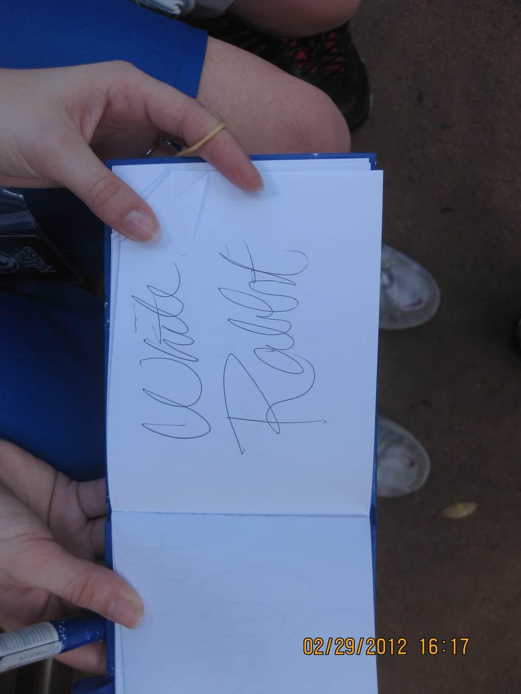 36 White Rabbits Autograph