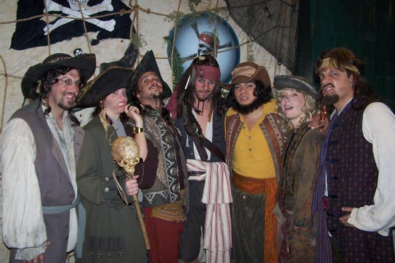Bad Mood t Blackhearted, Johnny Crimson, Laverne Enchante, Captain Dante & Billy Books from Dream Job 2007 with Captain Jack Sparrow and our own Cobbler Pirate