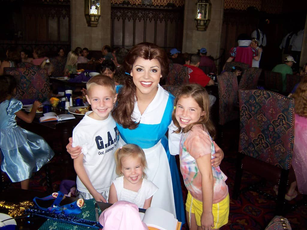 Belle at Cinderella's Royal Table 2006
