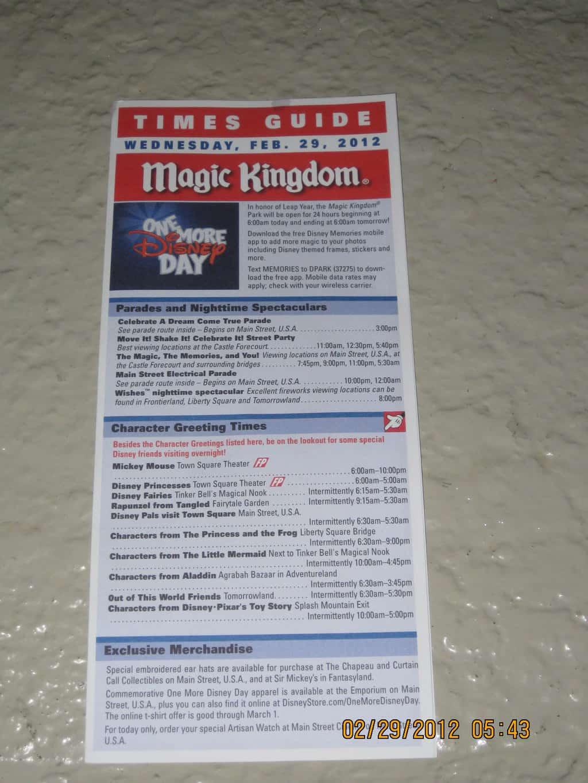 OMDD Times Guide (2)