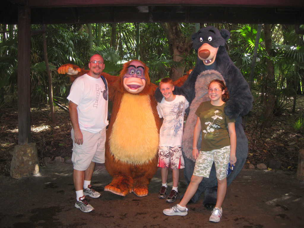 Baloo and Louie Animal Kingdom 2010