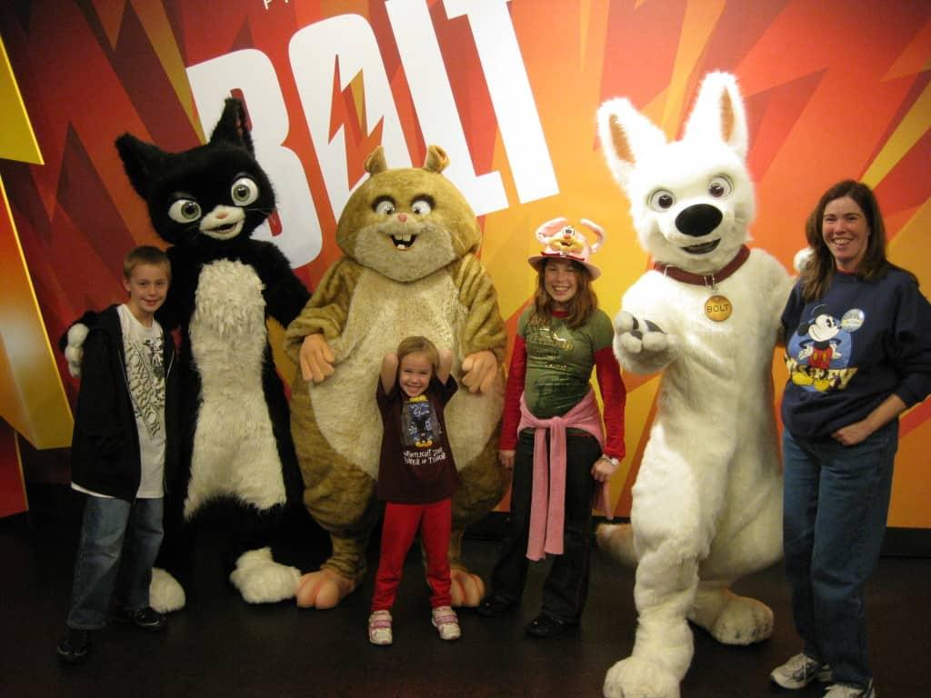Walt Disney World, Hollywood Studios Characters, Bolt, Mittens, Rhino