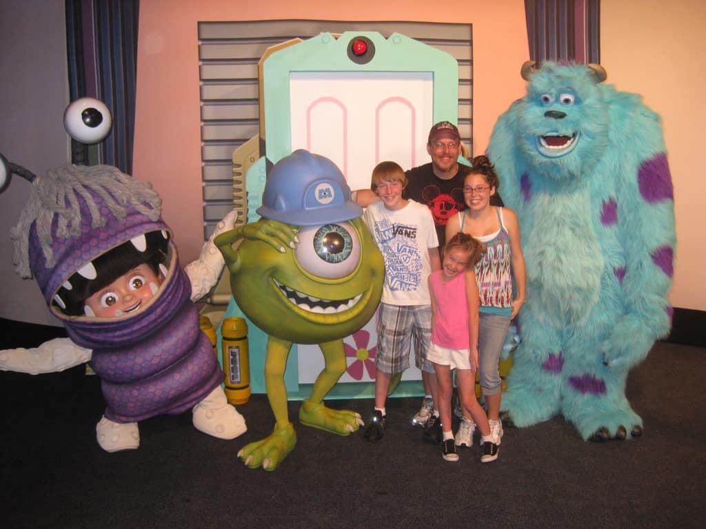 Walt Disney World, Epcot Characters, Pixar Weekend, Boo, Mike Wazowski, Sulley
