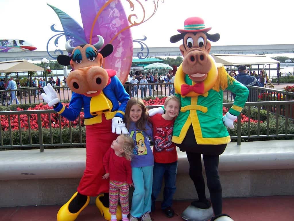 2006 - Clarabelle Cow and Horace Horsecollar.  I'm glad that these two awesome characters now appear to dance with kids in the Frontierland Hoedown (which most guests don't know exists), but in 2006 they appeared at the front of the Magic Kingdom to meet guests.