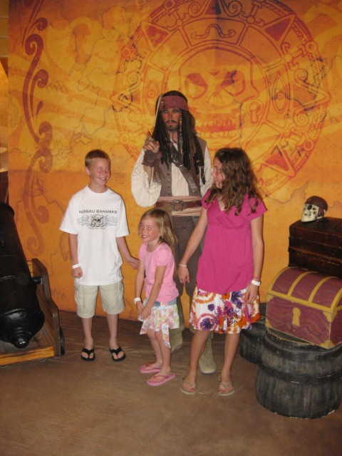 Jack Sparrow on Disney Cruise 2009