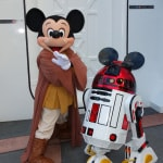 Jedi Mickey and his personal droid R2-MK at Star Wars Weekends 2013