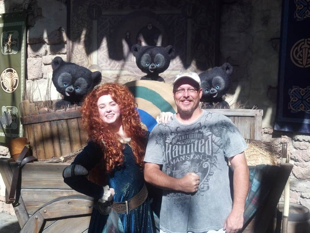 Merida and the Bear Brothers at Magic Kingdom in Disney World