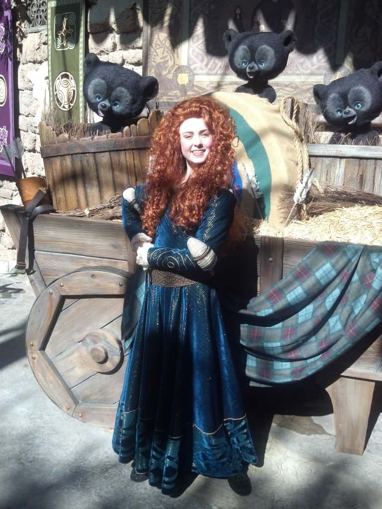 Merida at Magic Kingdom in Disney World
