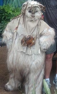 Paploo the Ewok at Star Wars Weekends 2012