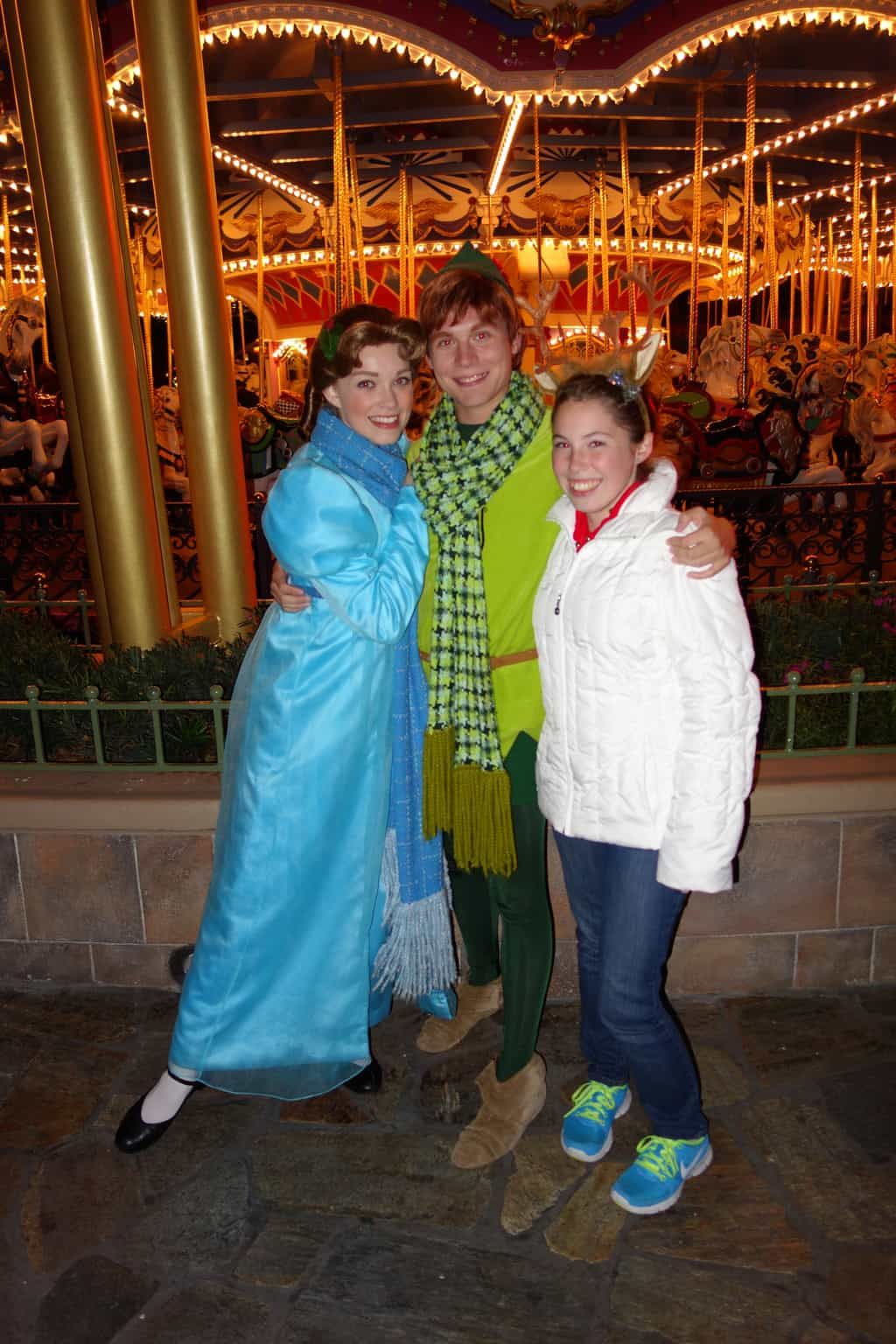 Peter Pan & Wendy Darling at Mickey's Very Merry Christmas Party 2012