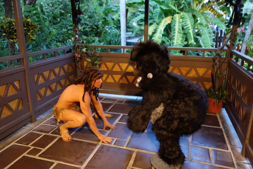 Terk with Tarzan at Mickey's Not So Scary Halloween Party 2012