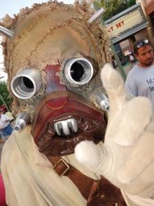 Tusken Raider Star Wars Weekends 2013 - bad guy roams backlot