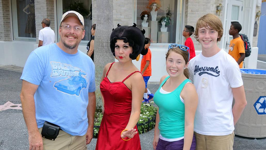 Betty Boop Universal Studios Orlando 2013