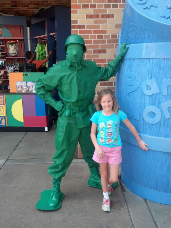 Green Army Man at Hollywood Studios 2012