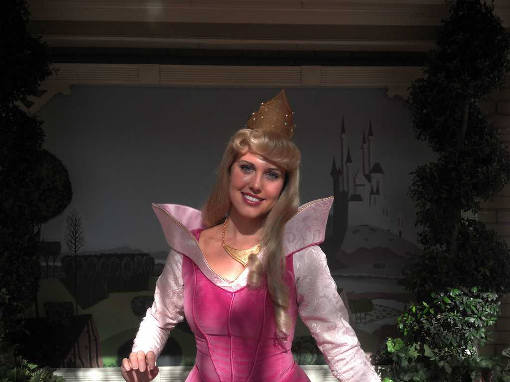 Aurora (Sleeping Beauty)  at City Hall in Magic Kingdom 2012