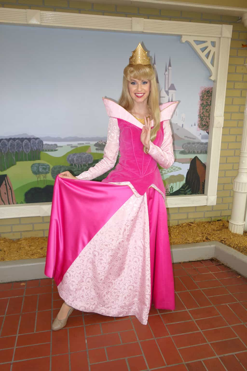 Aurora (Sleeping Beauty)  at City Hall in Magic Kingdom