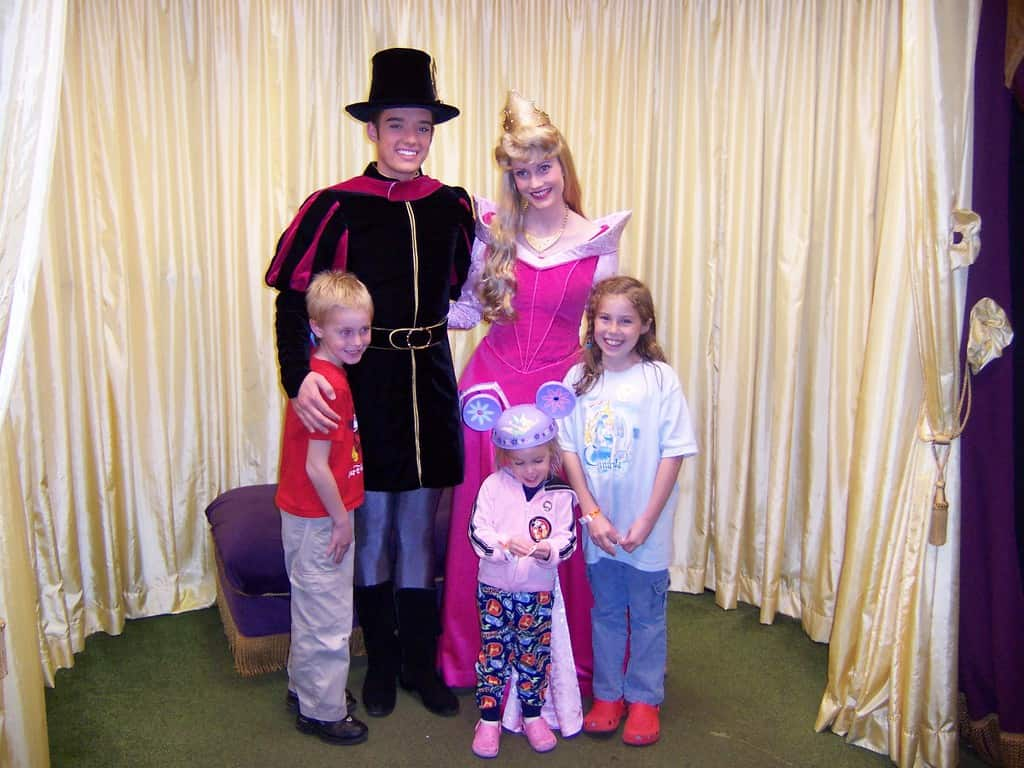Aurora (Sleeping Beauty) and Prince Phillip at Mickey's Very Merry Christmas Party 2006