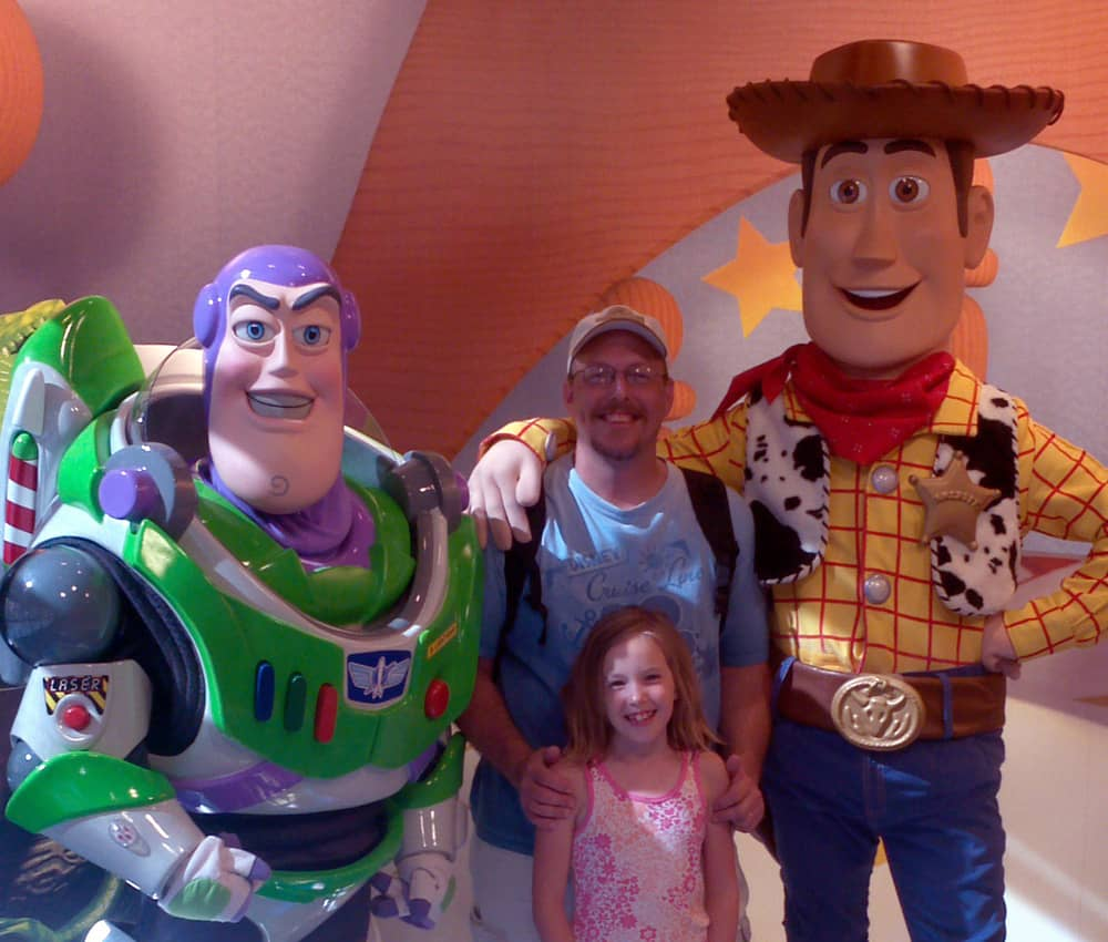April 2012 during our first ever Ultimate Four Park Character Tour.