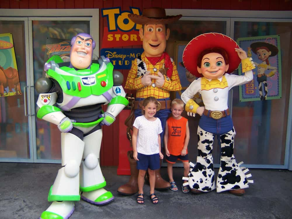 August 2004 was the only time we've been able to meet Buzz, Woody and Jessie in one location.  It was taken in Hollywood Studios.  This location was later transformed in Phineas and Ferb meet area.