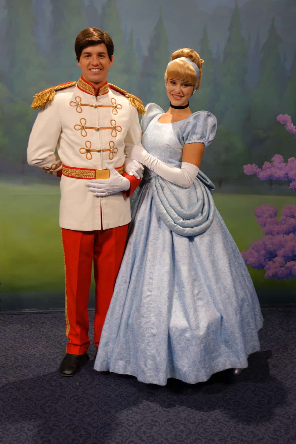 Cinderella and Prince Charming at Town Square Theater in Magic Kingdom 2012  Halloween Party