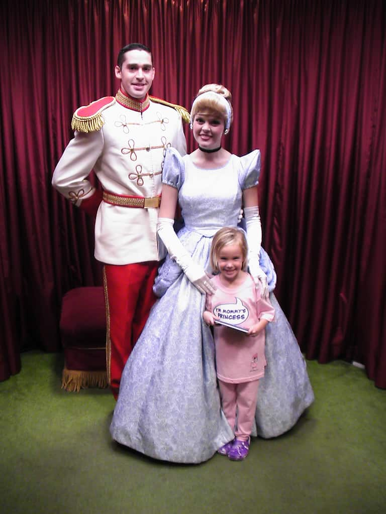 Cinderella and Prince Charming at Toontown in Magic Kingdom 2008
