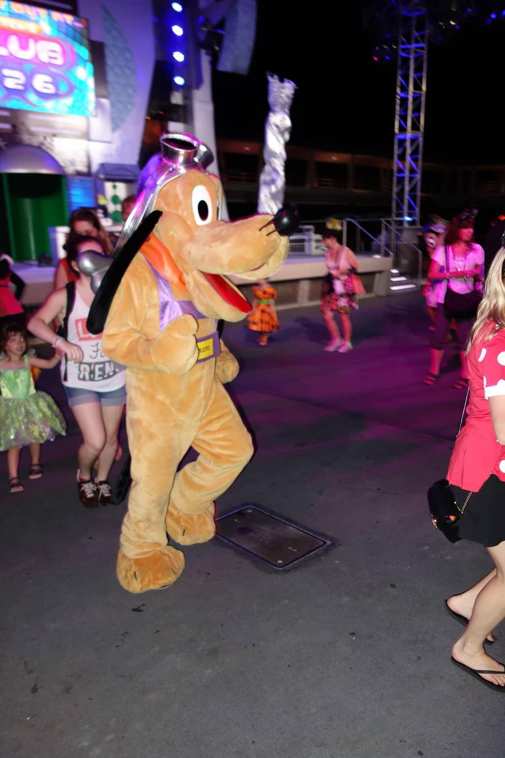 Pluto at Magic Kingdom Halloween Party 2012