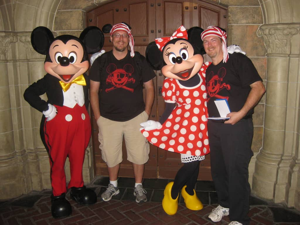 Mickey and Minnie at Fantasyland in Magic Kingdom 2011