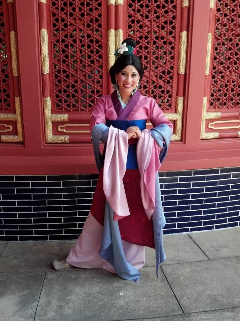 Mulan in China Pavilion at Epcot