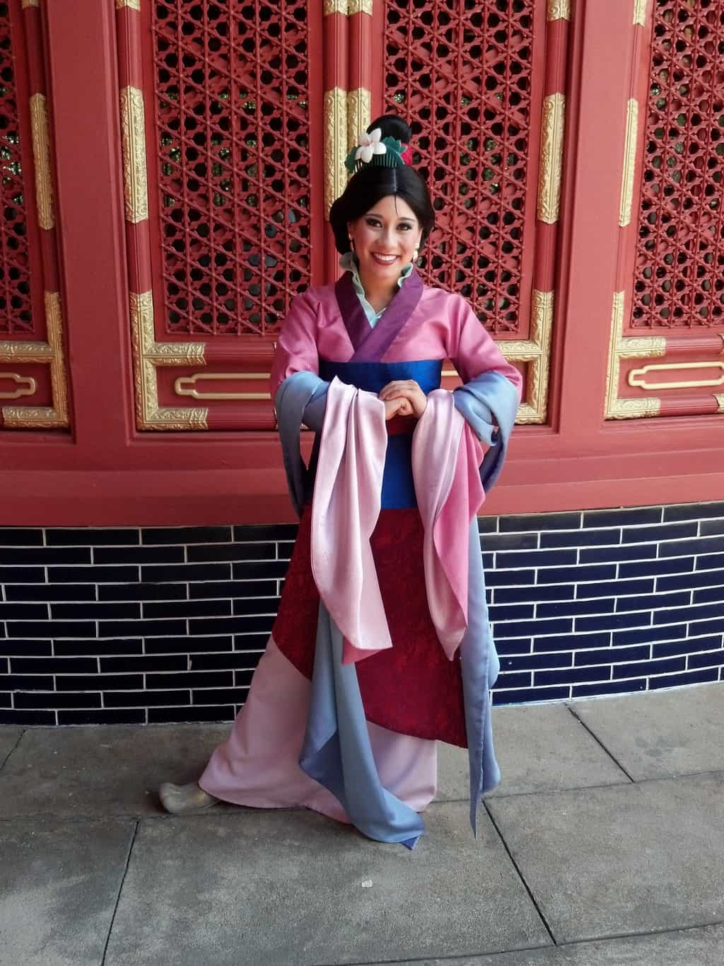 Mulan in China Pavilion at Epcot