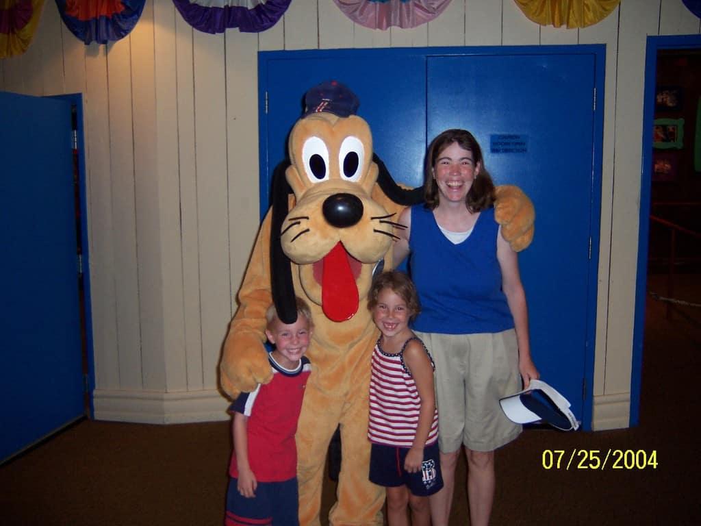 Pluto at Magic Kingdom 2004